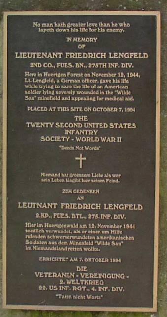 Plakat Peringatan Friedrich Lengfeld